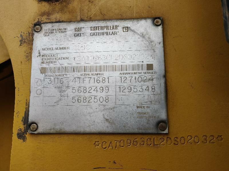 Chargeur sur chenilles CATERPILLAR 963C - Codimatra<br />